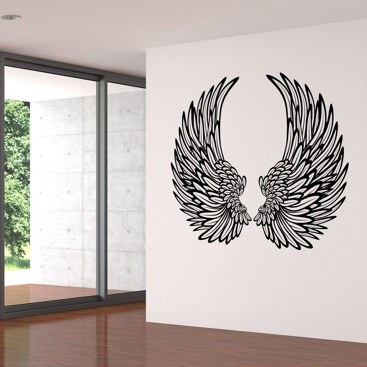 Decorative angel wings wall sticker world of wall stickers for Decorative wall mural
