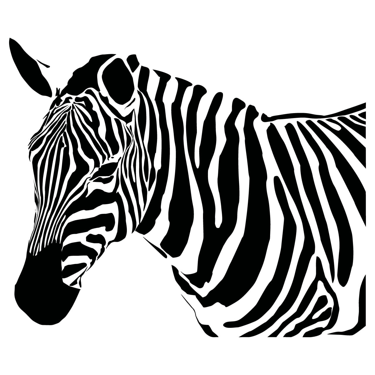 Zebra Head Outline The gallery for -->...