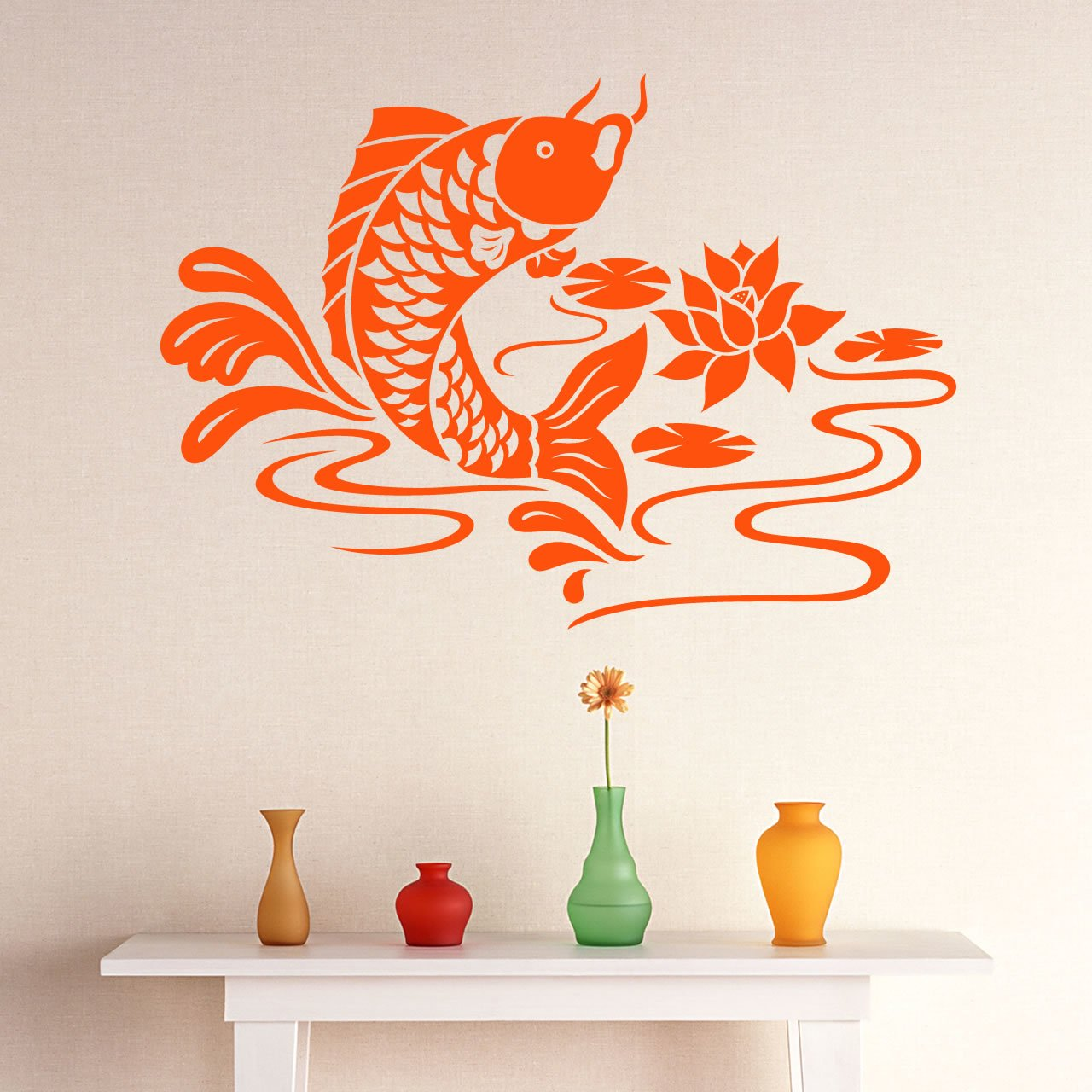 Koi carp fish animal wall sticker world of wall stickers amipublicfo Images