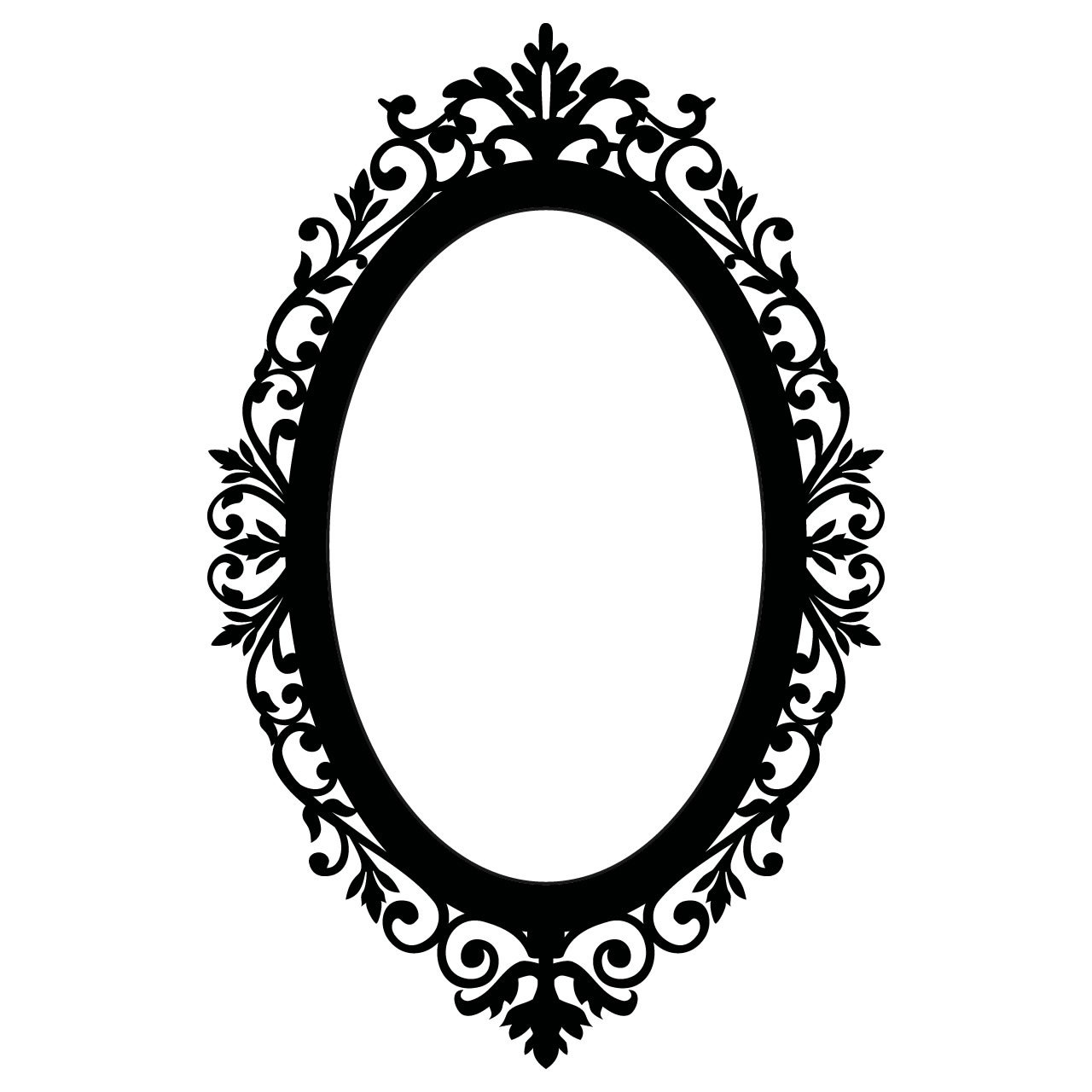 Ornate Oval Frame Vintage Wall Sticker World of Wall Stickers