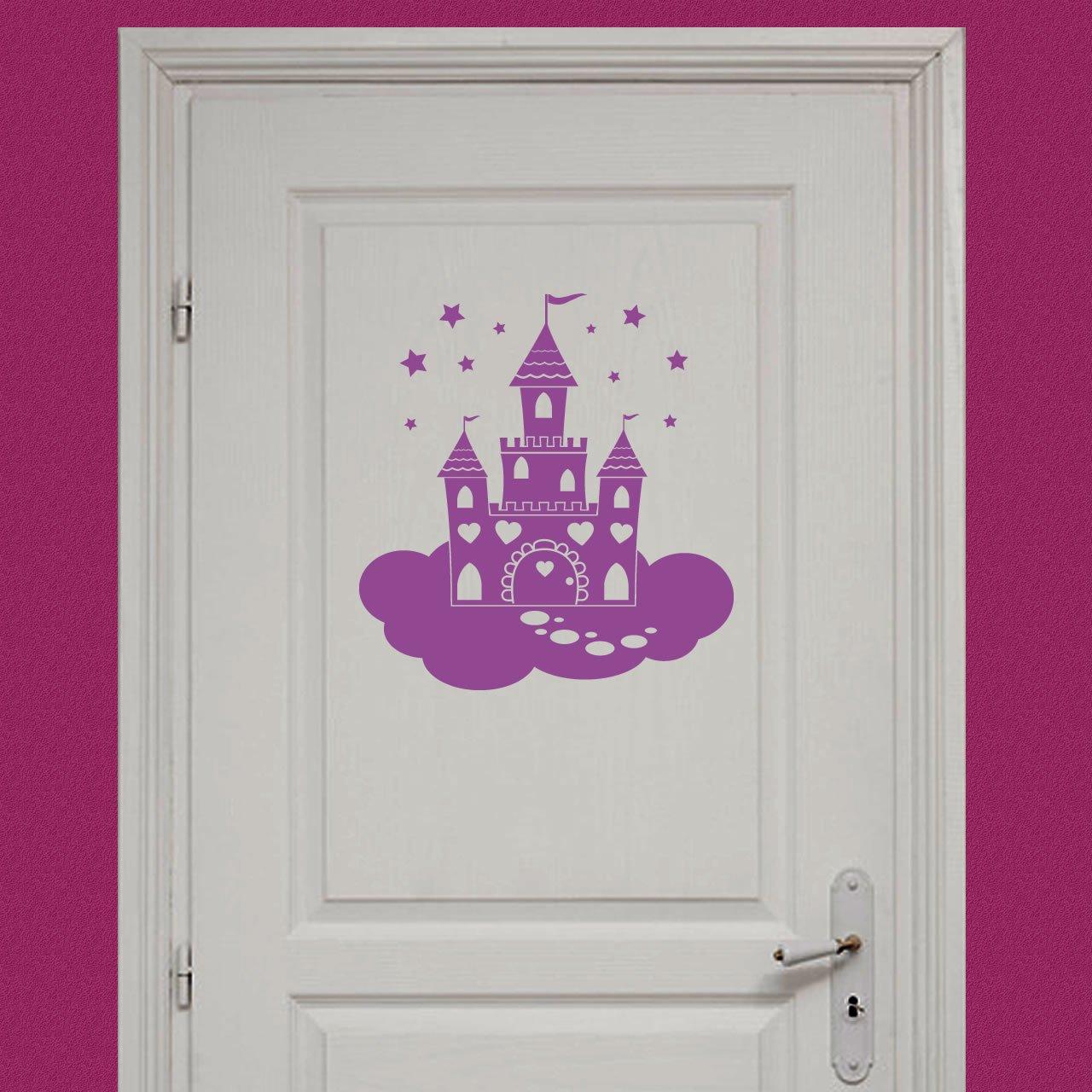 fairy princess castle childrens wall sticker world of pink fairy princess butterflies wall stickers art decal