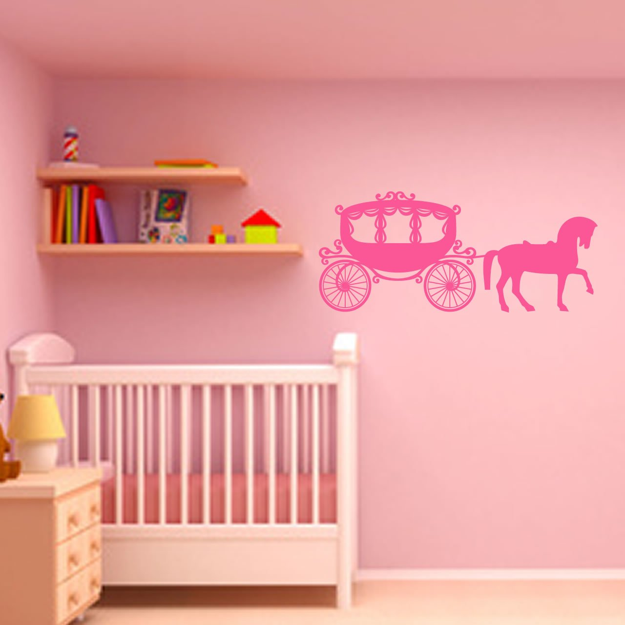 Fairytale princess carriage and horse childrens wall sticker fairytale princess carriage and horse childrens wall sticker world of wall stickers amipublicfo Gallery