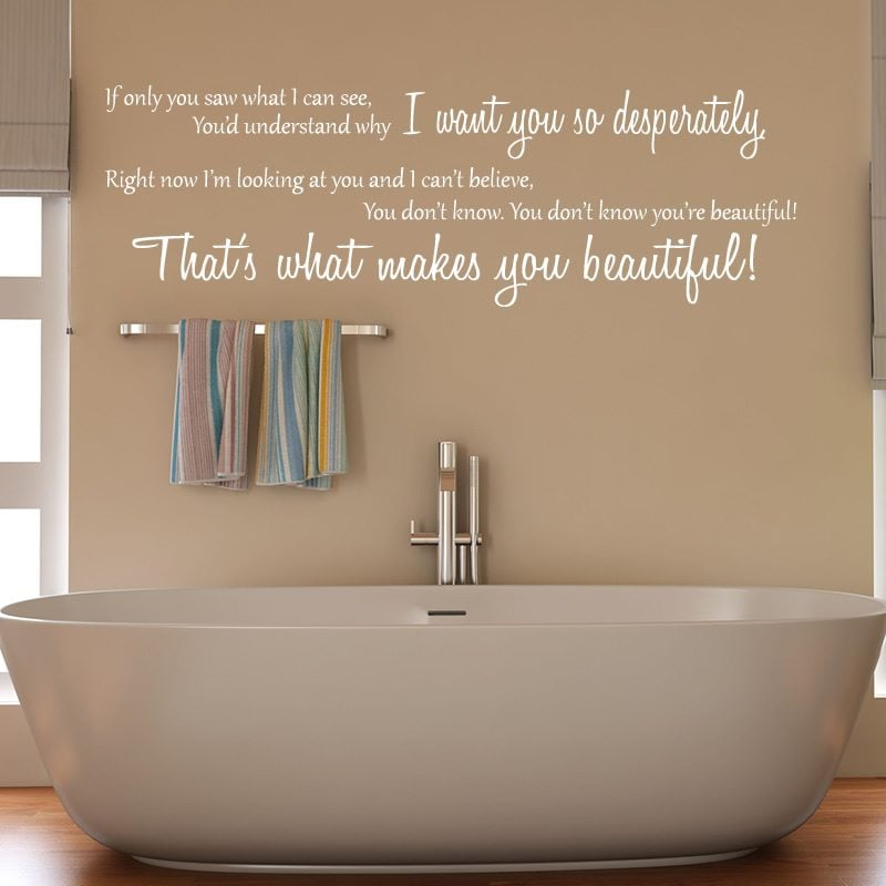 one direction beautiful lyrics wall sticker world of florence you ve got the love design 1 song lyrics decal