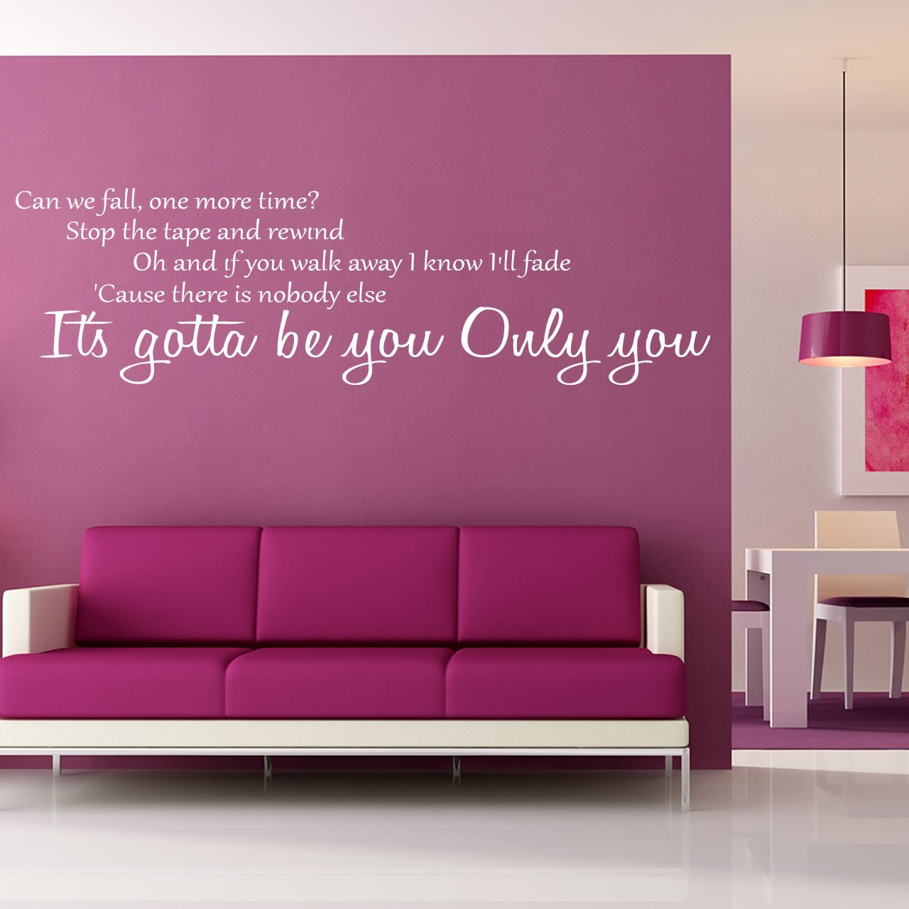 The Product Is Already In The Wishlist! Browse Wishlist · One Direction  Gotta Be You Lyrics Wall Sticker ... Part 73