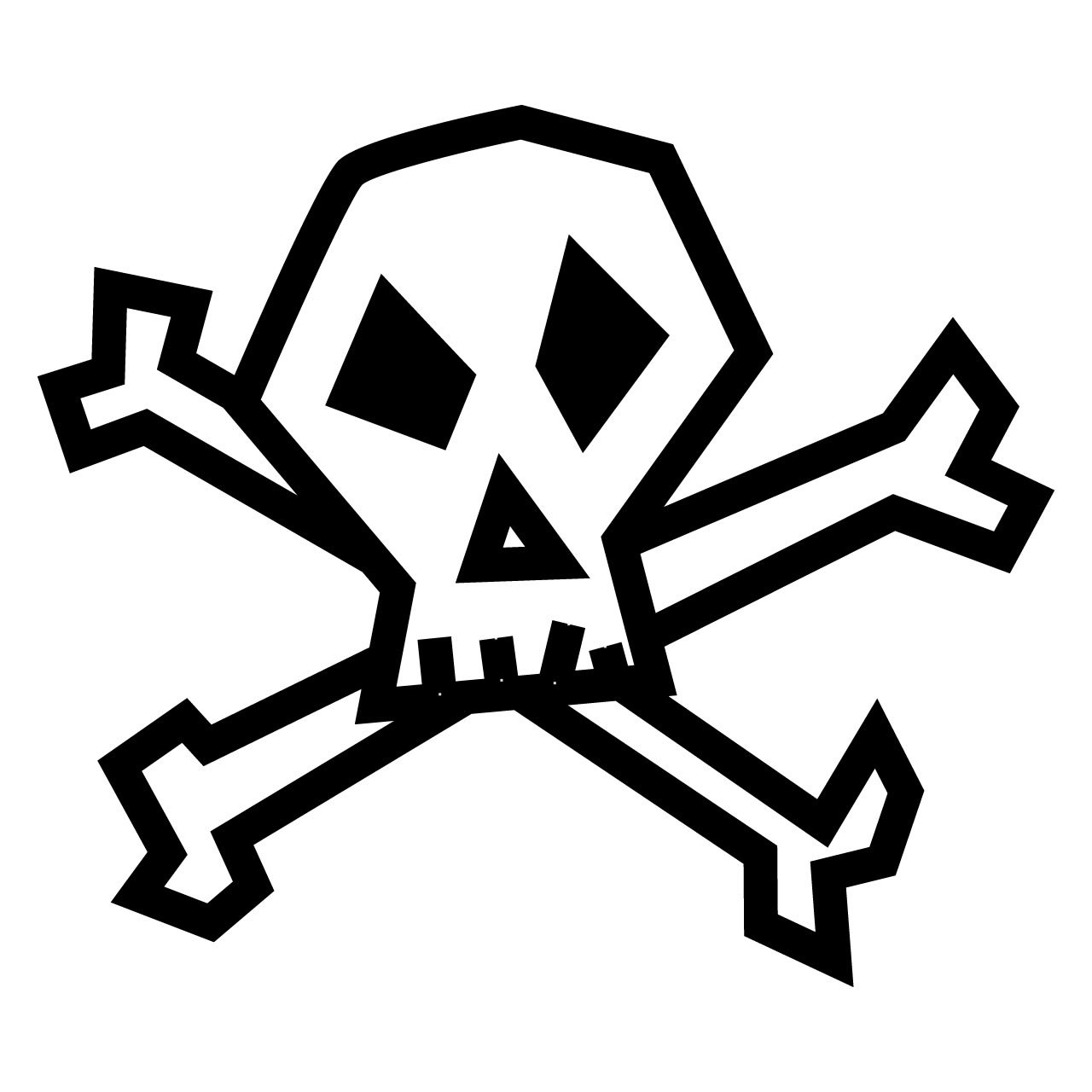 Skull and Crossbones: Stickers Redbubble