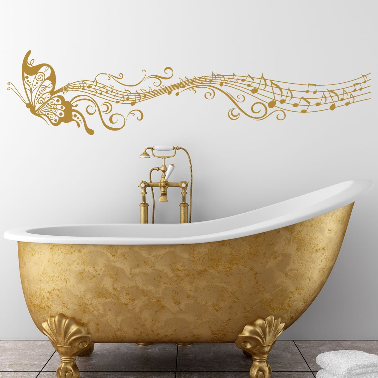 Musical butterfly wall sticker world of wall stickers amipublicfo Image collections