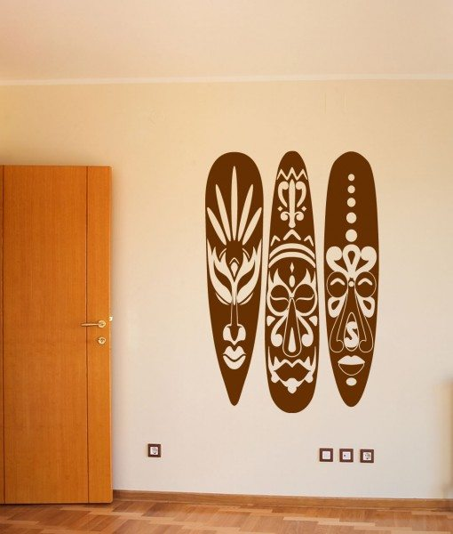 African Masks Wall Sticker – Decal – a