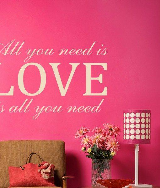 All You Need Is Love John Lennon Lyrics Wall Sticker – Decal – a