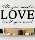 All You Need Is Love John Lennon Lyrics Wall Sticker – Decal – c