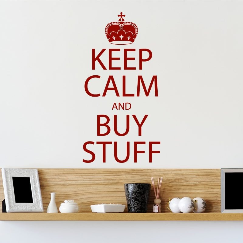 keep calm and buy stuff quote wall sticker world of wall aliexpress com buy tree branch with bird cage wall art
