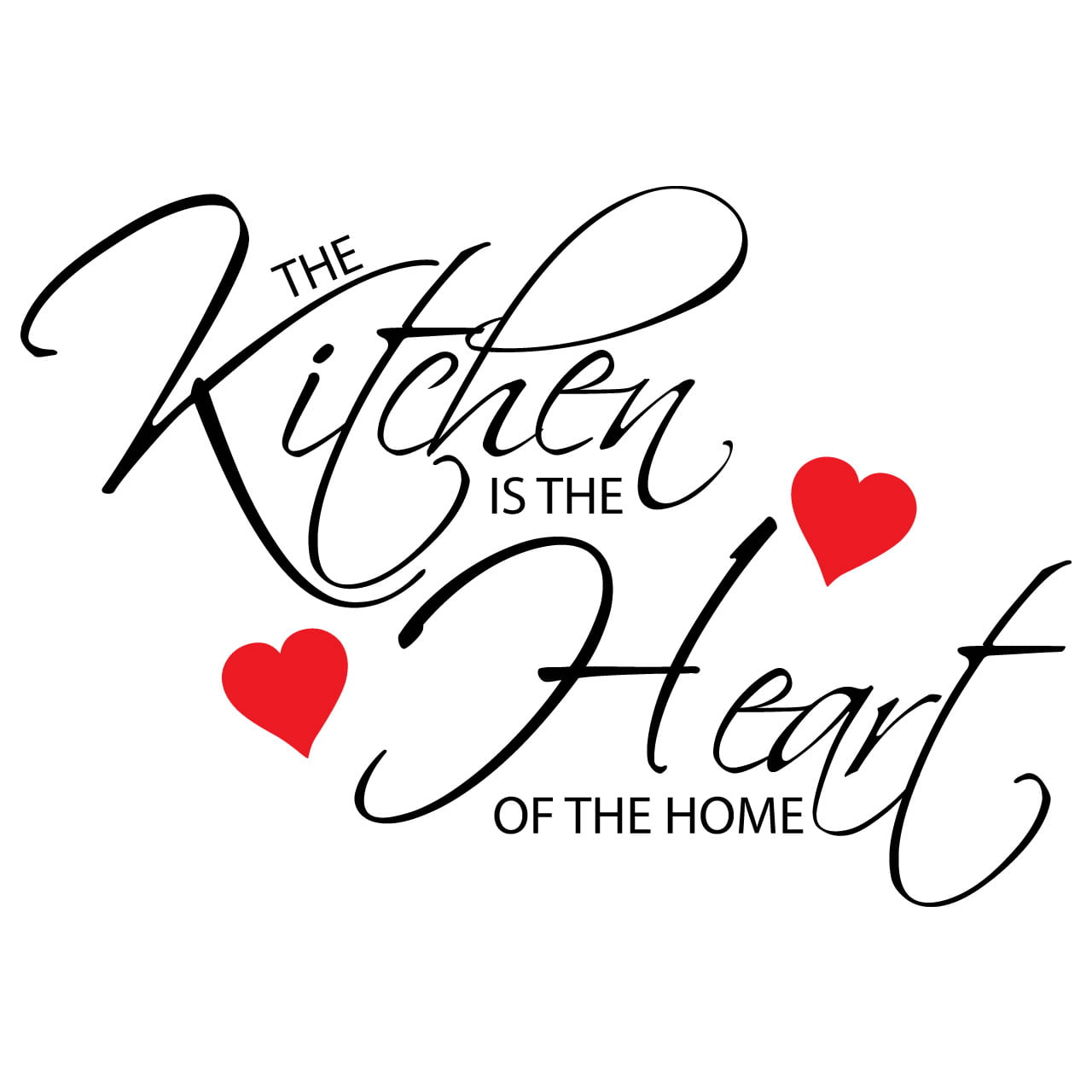 Kitchen Is The Heart Of The Home Quote Wall Sticker - World of Wall Stickers
