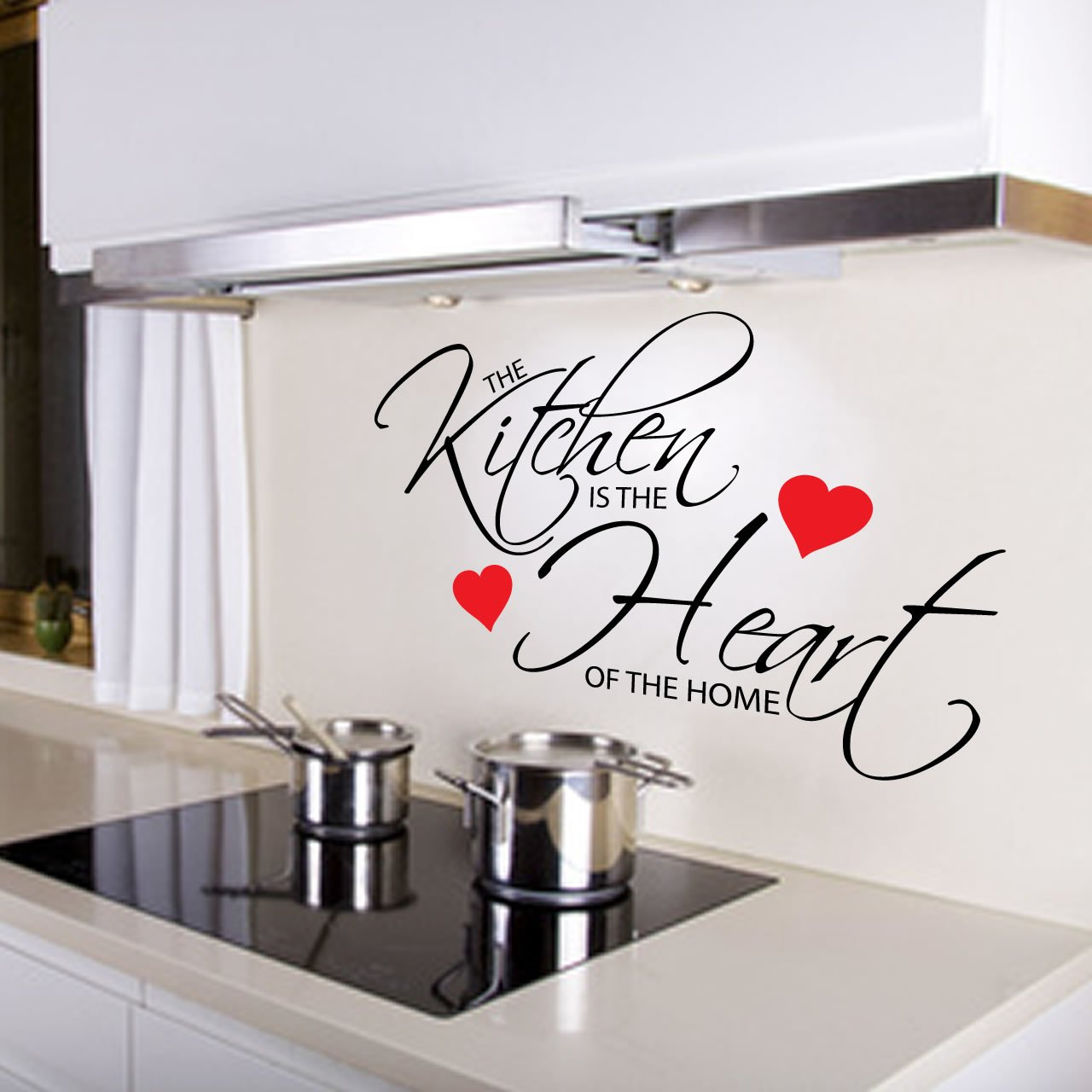 kitchen is the heart of the home quote wall sticker - world of