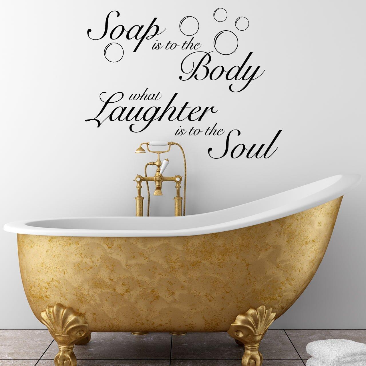 Bathroom Wall Sticker Inspirational Quote Ideas Soakology