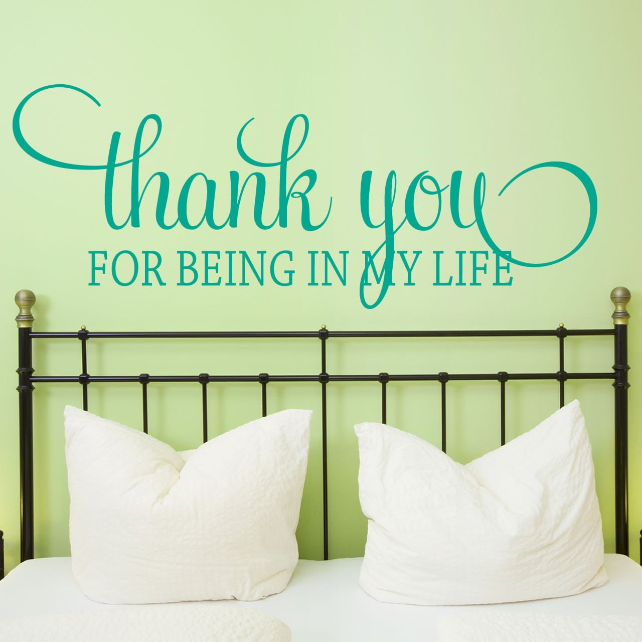 Life Wall Quotes Thank You For Being In My Life Quote Wall Sticker  World Of Wall