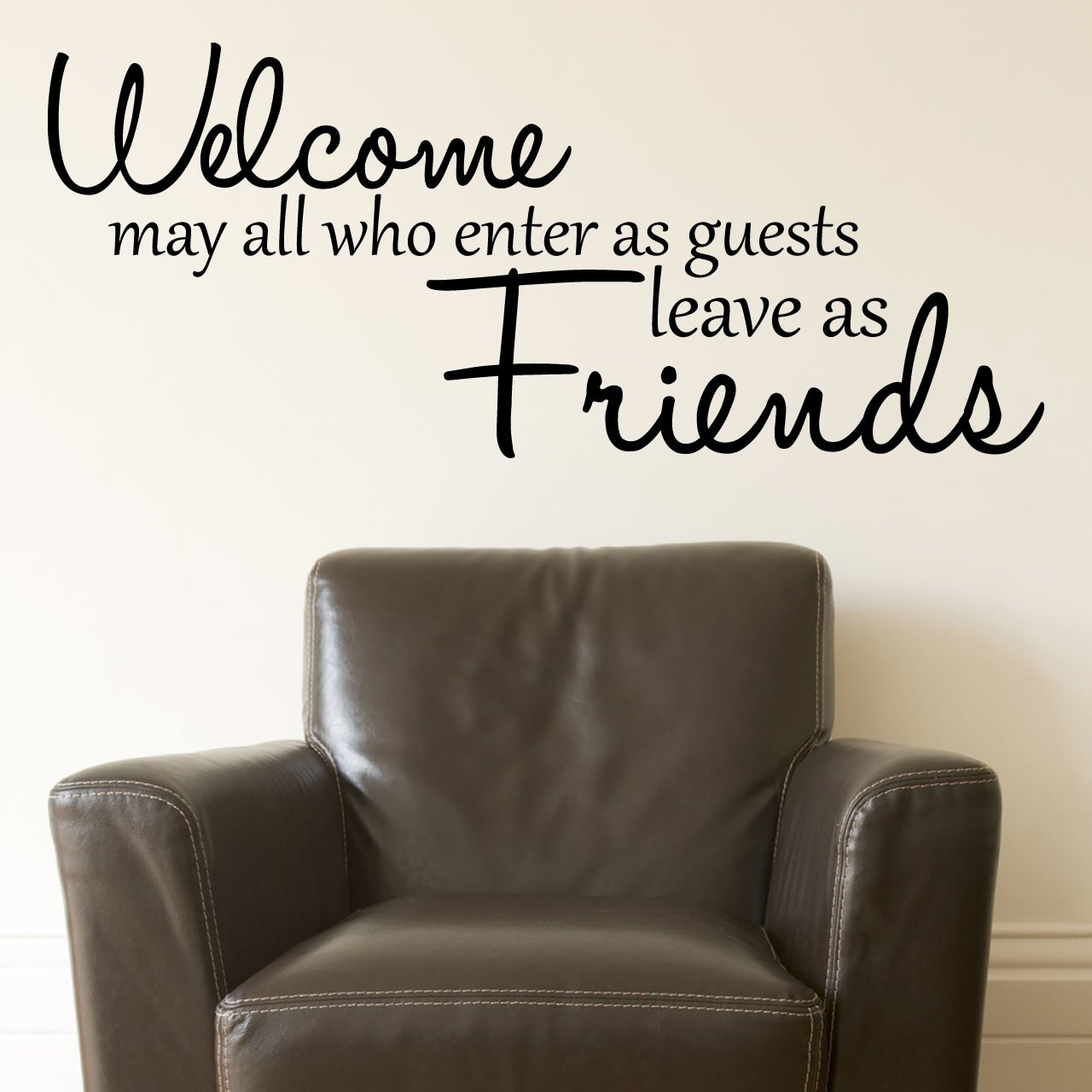welcome friends quote wall sticker world of wall stickers