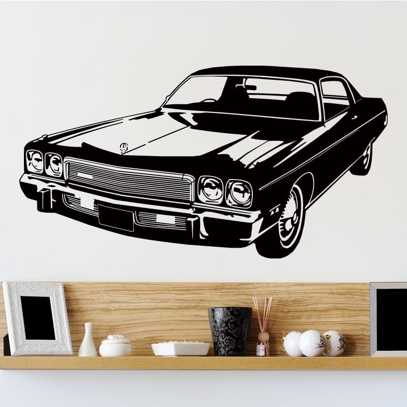 retro car wall sticker world of wall stickers