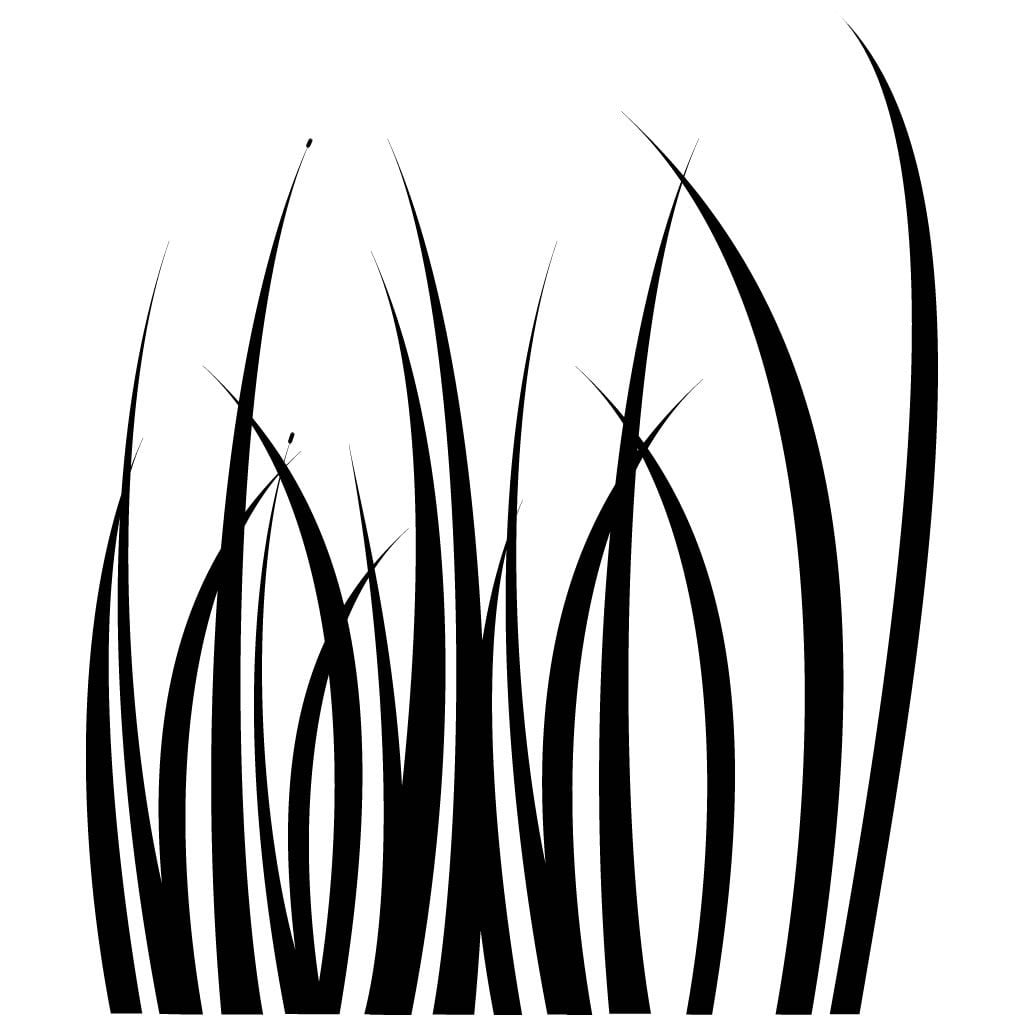 blades of grass plant wall sticker world of wall stickers
