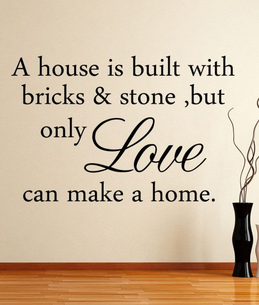 A House Is V1 Quote Wall Sticker – Decal – a