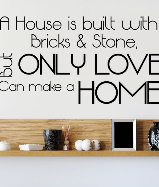 A House Is V2 Quote Wall Sticker – Decal – a