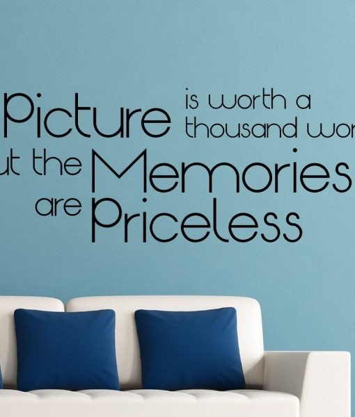 A Picture Is V1 Quote Wall Sticker – Decal – a