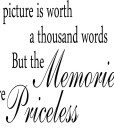 A Picture Is V2 Quote Wall Sticker – Decal – Plain