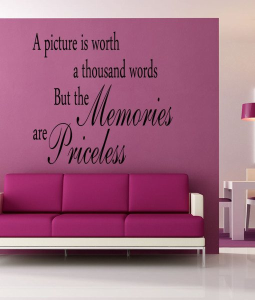 A Picture Is V2 Quote Wall Sticker – Decal – a