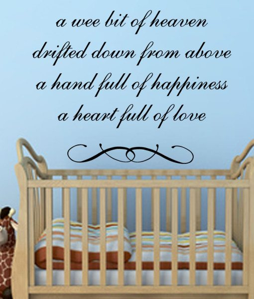 A Wee Bit V2 Quote Wall Sticker – Decal – a