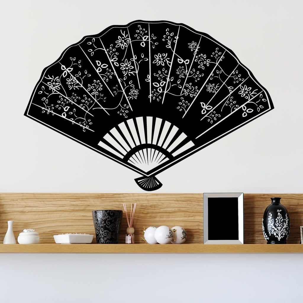 Decorative Fan Wall Sticker World Of Wall Stickers