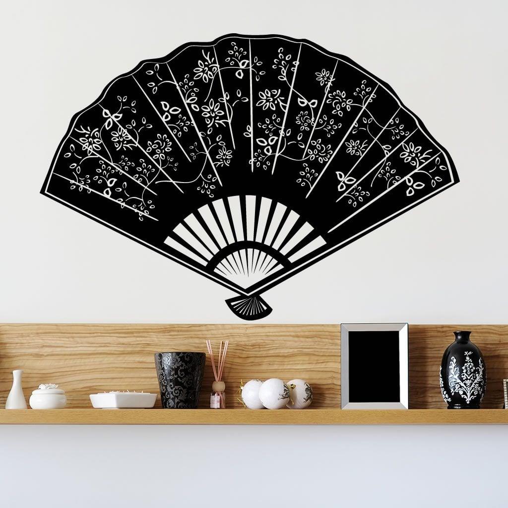 Decorative fan wall sticker world of wall stickers - Wall fans decorative ...