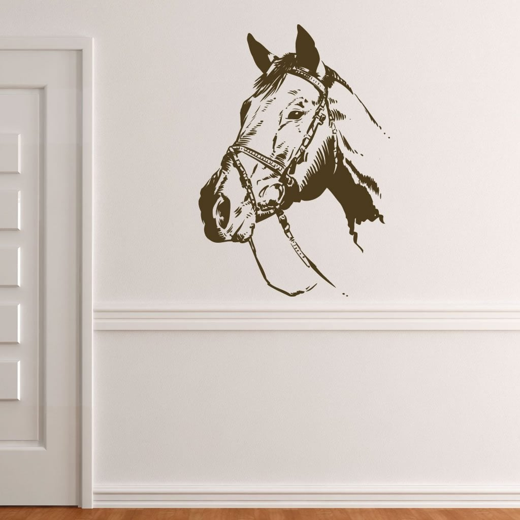Horse Head Animal Wall Sticker