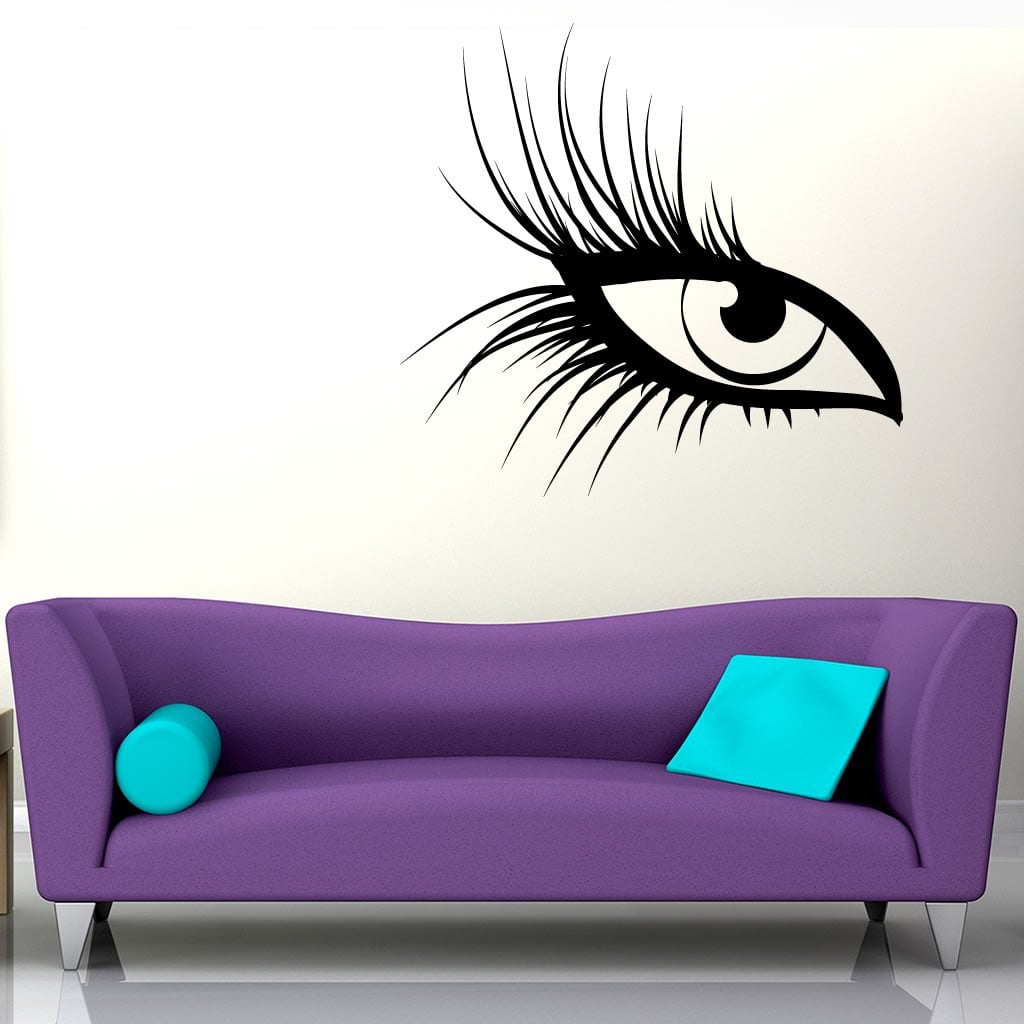 Large eye lashes wall sticker world of wall stickers large eye lashes wall sticker decal a amipublicfo Images