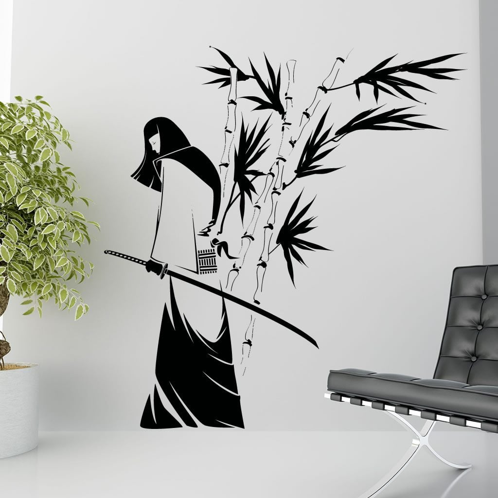 Samurai Warrior Bamboo Wall Sticker U2013 Decal U2013 A