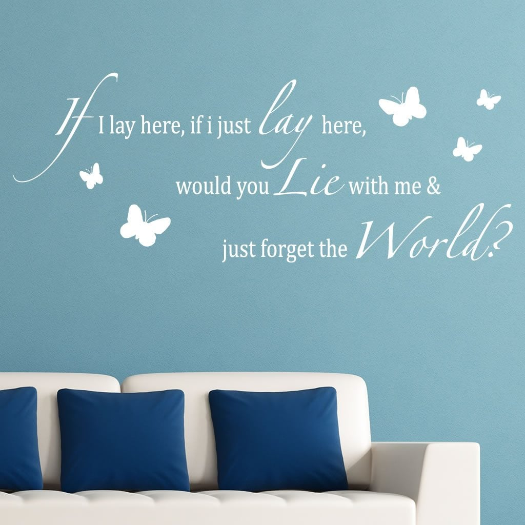 if i lay here butterflies lyrics wall sticker world of wall the product is already in the wishlist browse wishlist
