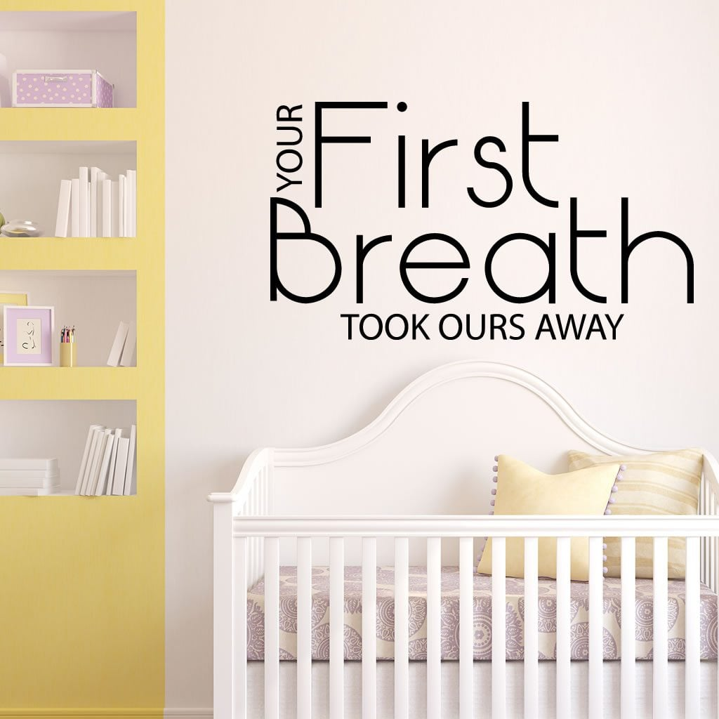 your first breath baby nursery quote wall sticker world we wished upon a shining star baby nursery kids wall