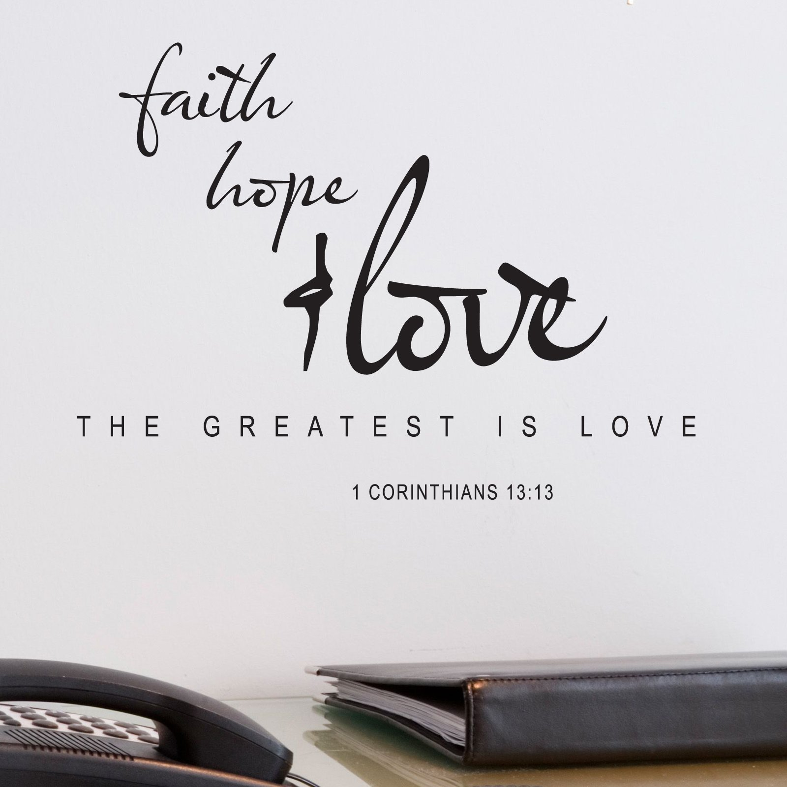 Faith Love Hope Quotes Faith Hope Love Religious Quote Wall Sticker  World Of Wall Stickers