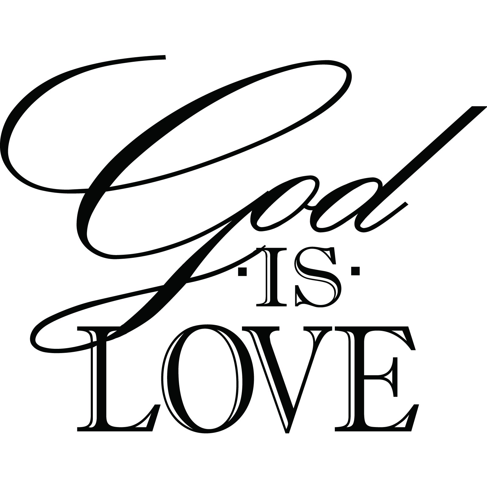 Cream Dining Room God Is Love Religious Quote Wall Sticker World Of Wall