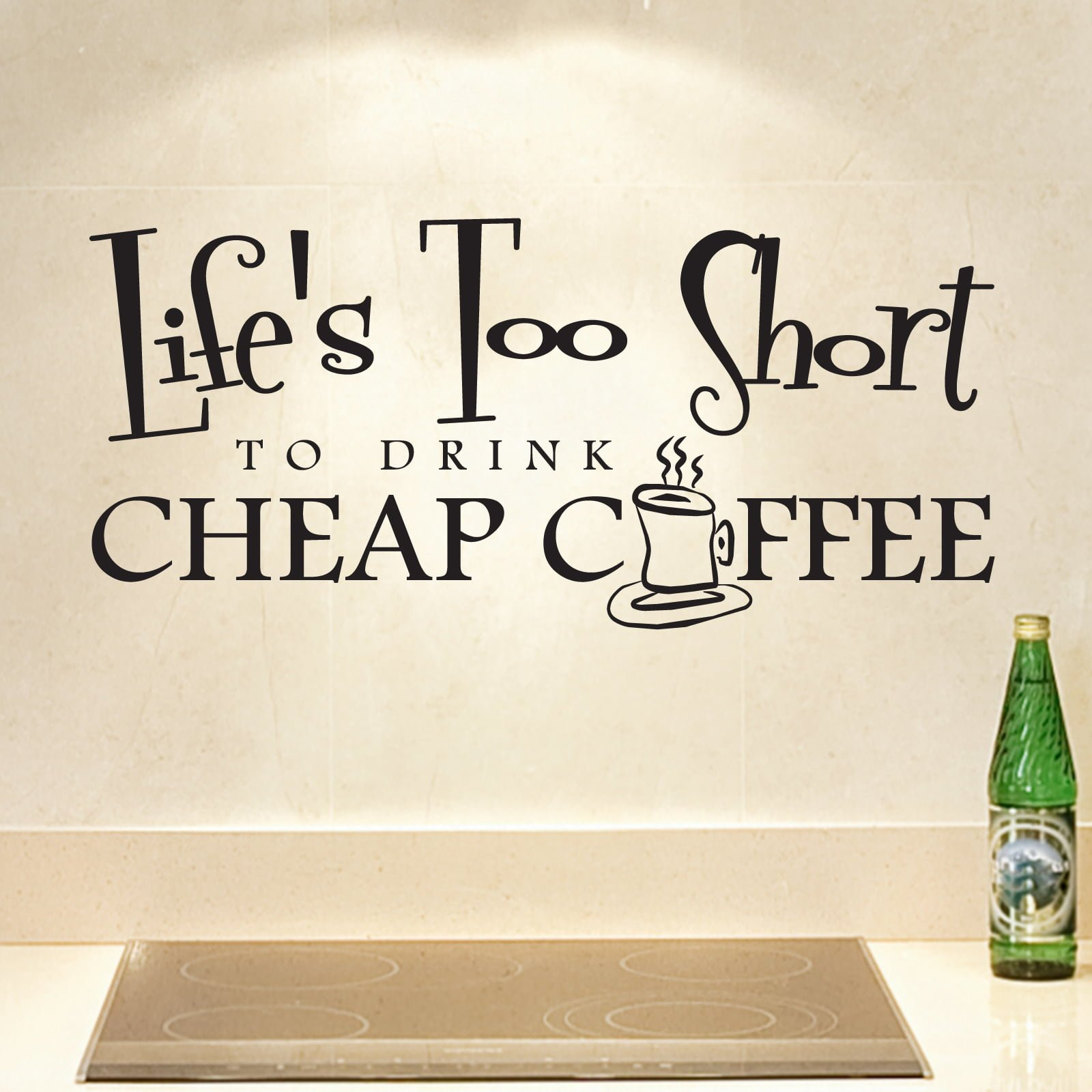 Cheap coffee kitchen quote wall sticker world of wall stickers cheap coffee kitchen quote wall sticker decal a amipublicfo Images