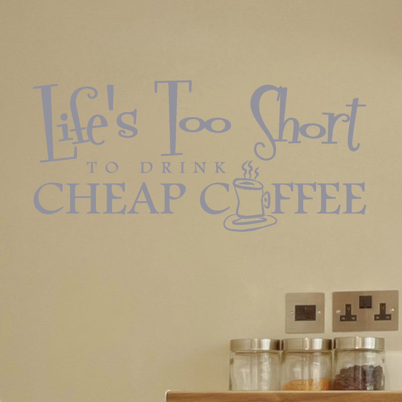 Cheap coffee kitchen quote wall sticker world of wall stickers amipublicfo Images
