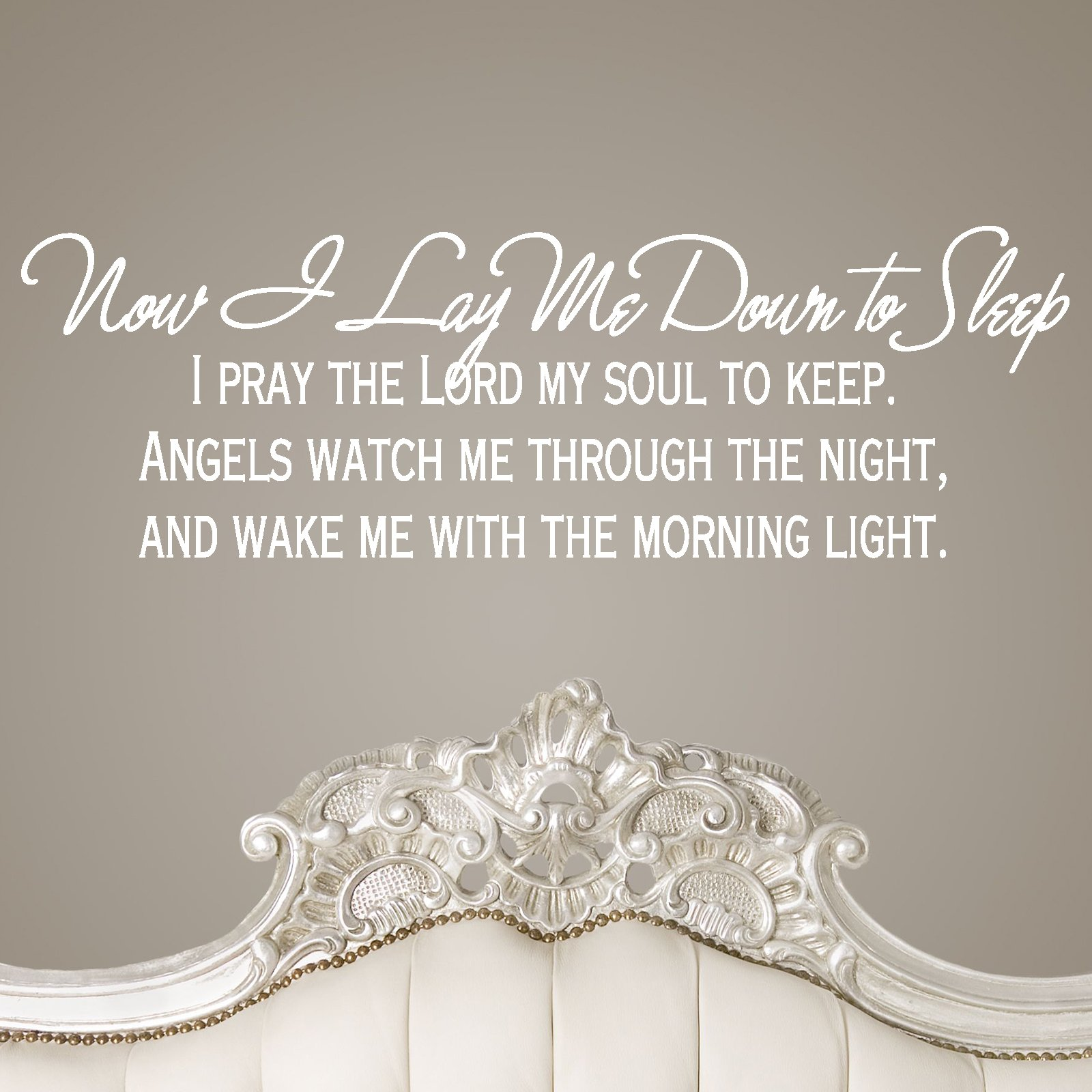 Now i lay me down to sleep wall decal - Now I Lay Me Down To Sleep Religious Quote Wall Sticker Decal C