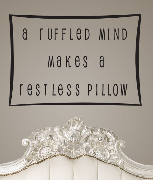 A Ruffled Mind Quote Wall Sticker – Decal – a