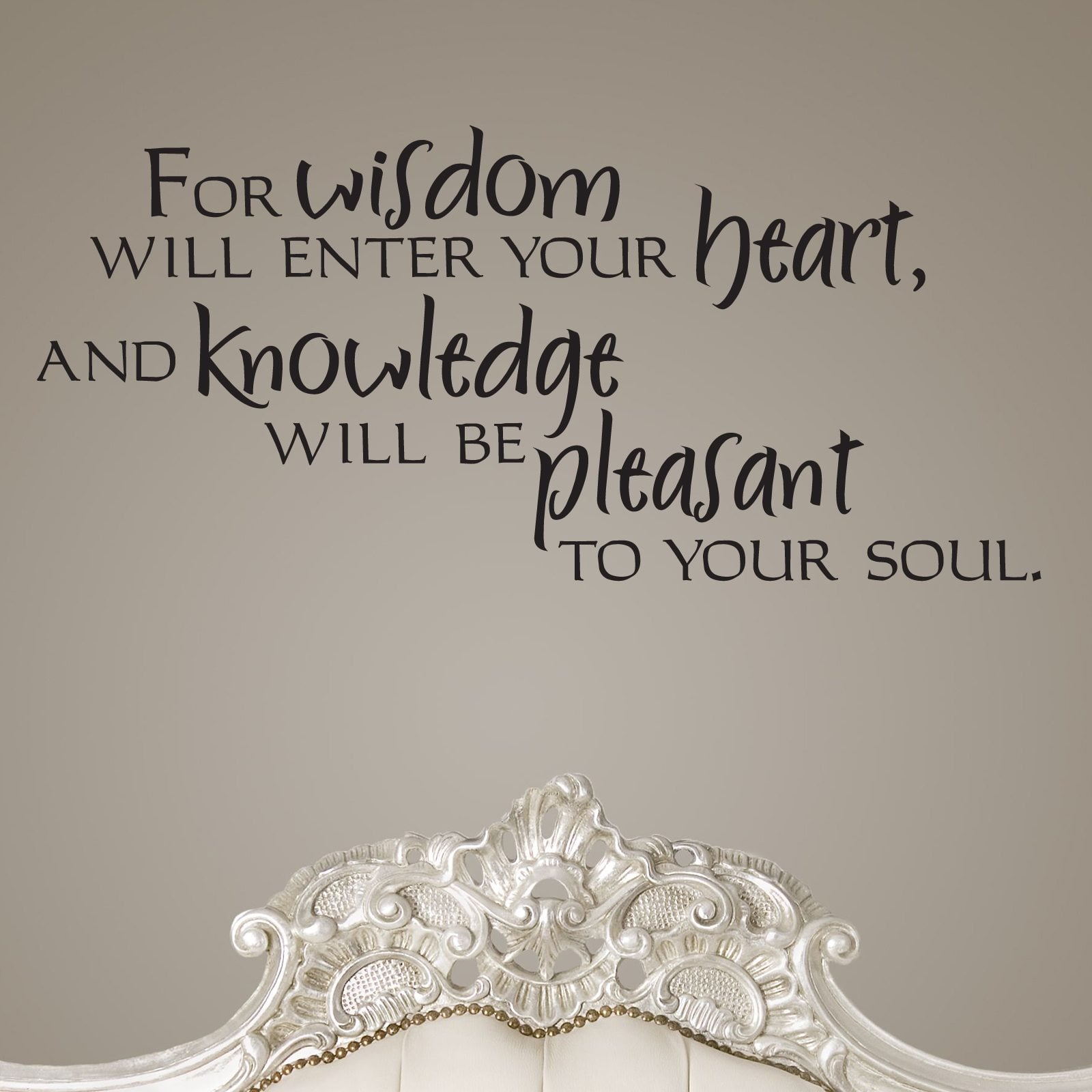 for wisdom will enter your heart quote wall sticker world of for wisdom will enter your heart quote wall sticker decal a