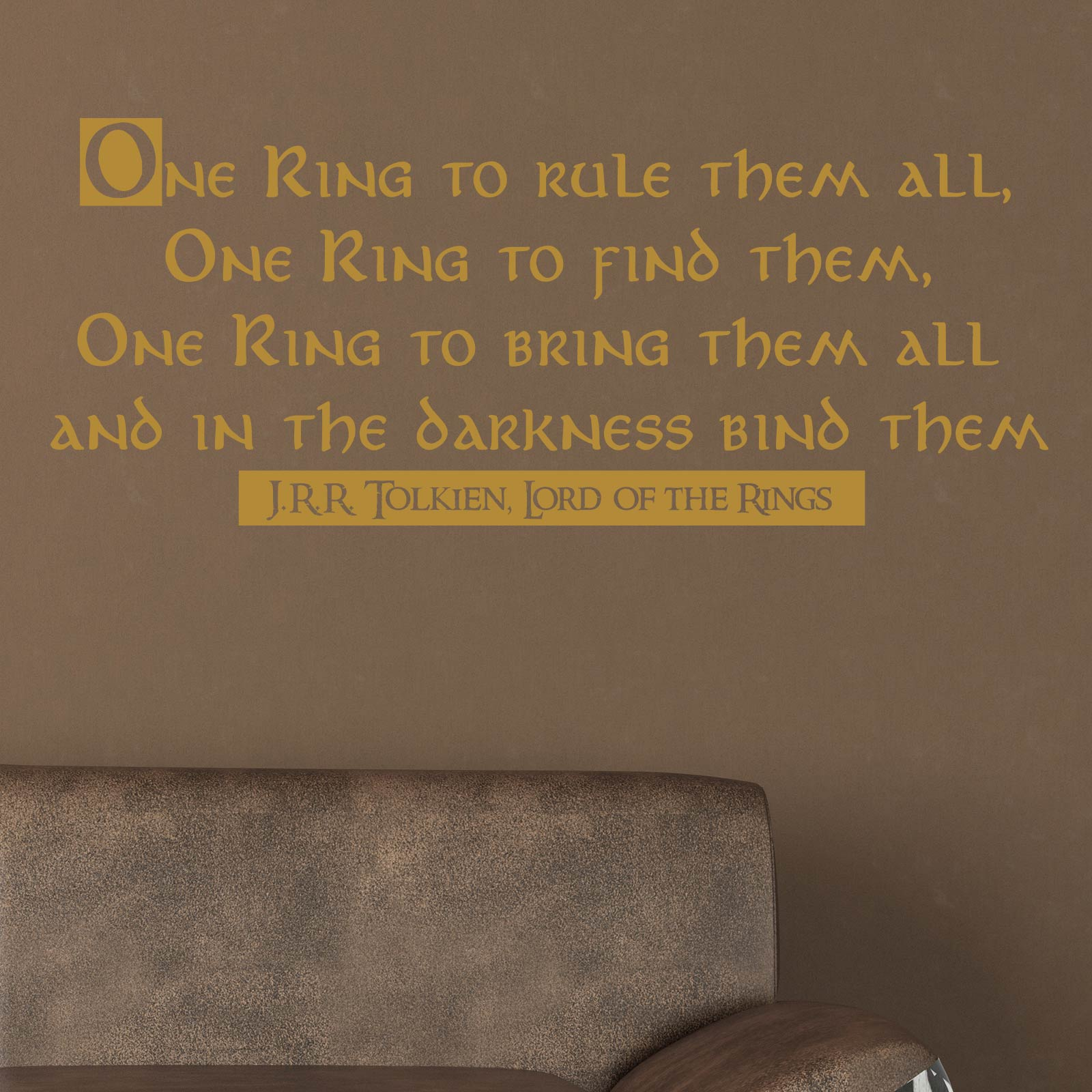 One Ring To Rule Them All Ring To Find Them One Ring To: One Ring To Rule Them All Quote Wall Sticker