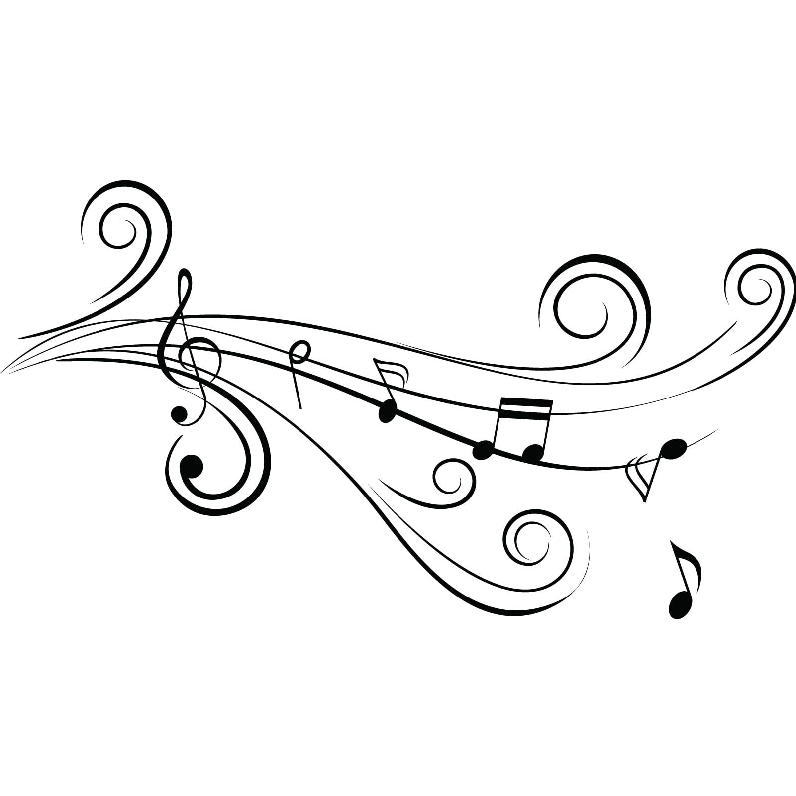 Cool Musical Notes v1 Wall Sticker