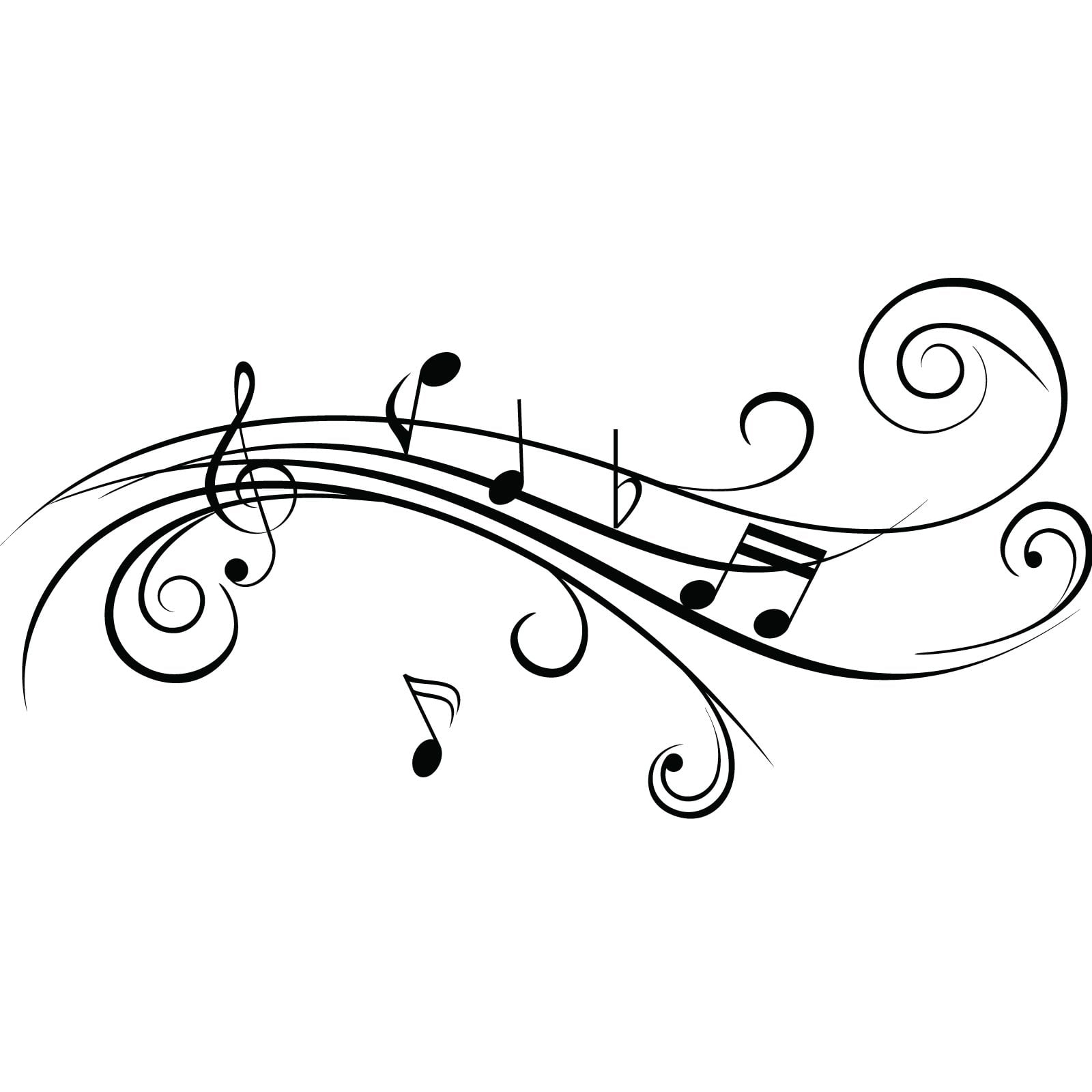 Wall Sticker Pictures Cool Musical Notes V2 Wall Sticker World Of Wall Stickers