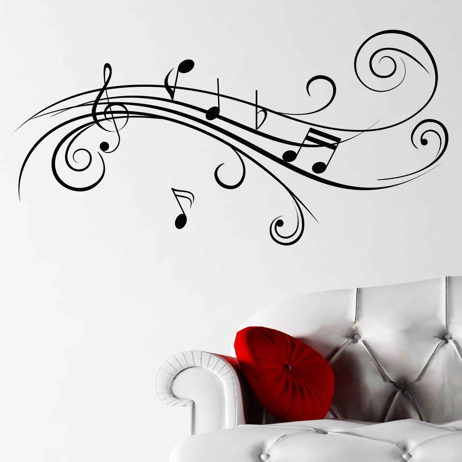 cool musical notes v2 wall sticker world of wall stickers cool musical notes v2 wall sticker decal a