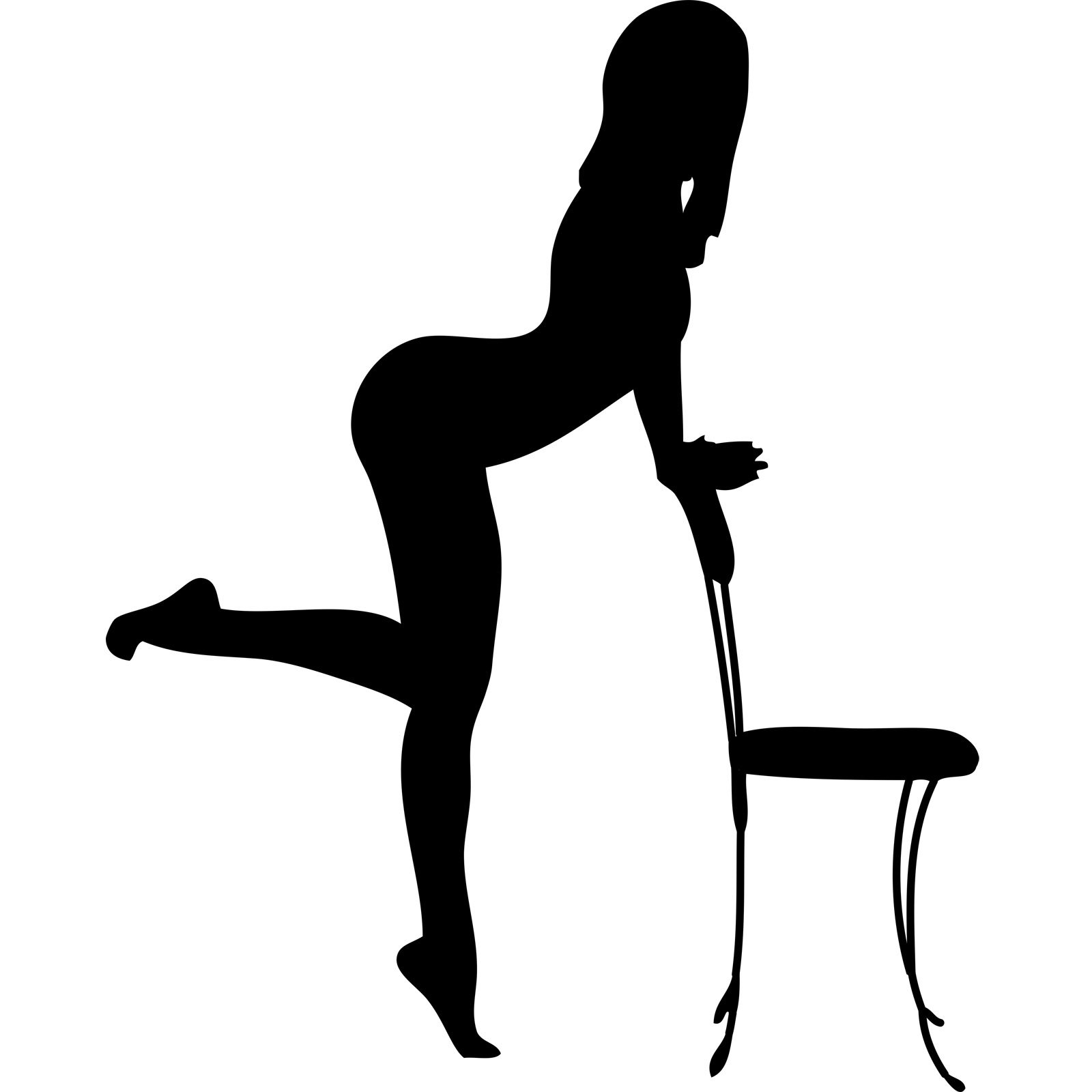 You Sexy lady silhouette images