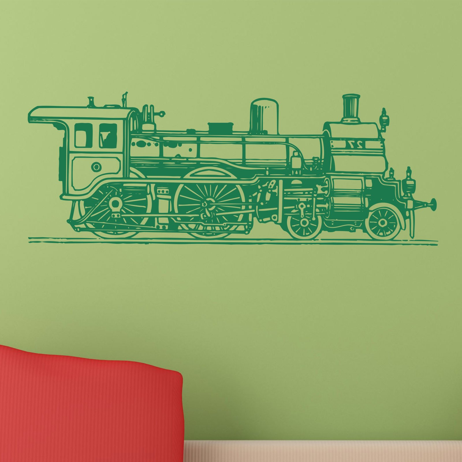 Old fashioned train wall sticker world of wall stickers the product is already in the wishlist browse wishlist old fashioned train wall sticker amipublicfo Images