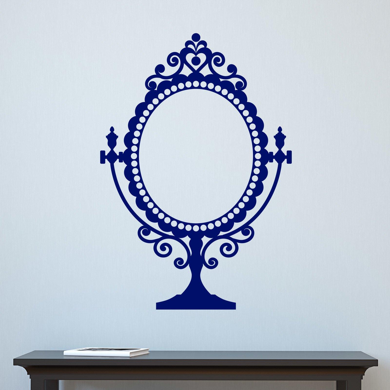 Decorative vintage mirror design wall sticker decal ebay for Mirror stickers