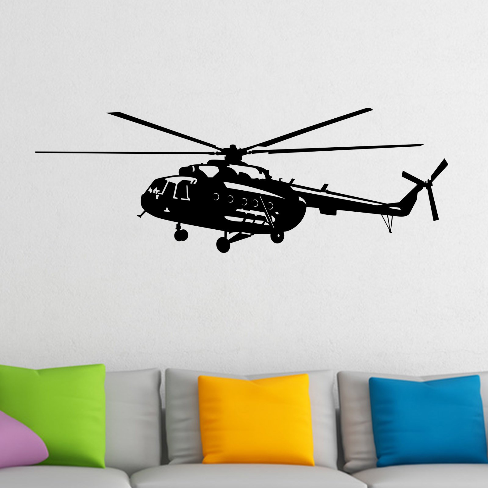 helicopter wall sticker world of wall stickers