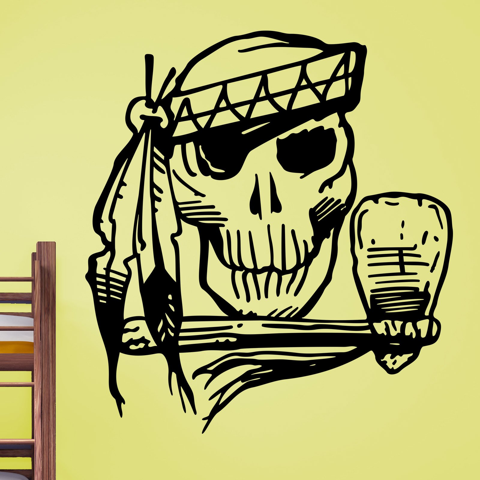 Native American Indian Skull and Hattchet Wall Sticker - World of ...